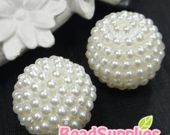BE-RB-08003 - Pearl cluster beads, 20mm, 6 pcs