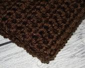 Chocolate Mini Layering Blanket-Matt-Bucket Blankie Layering Blanket & Hat Set 16 x 18