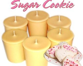 6 Sugar Cookie Votive Candles Buttery Vanilla Scent