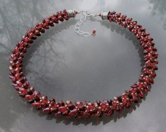 Le Rouge Kumihimo Necklace