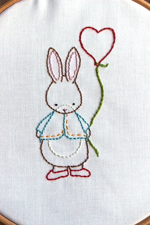 Hand Embroidery Pattern Some Bunny Loves You Pdf By