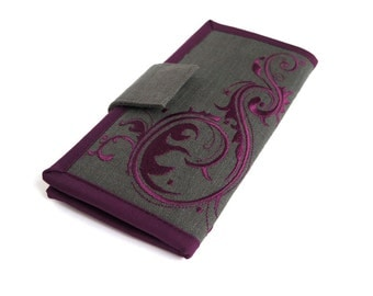 MADE TO ORDER   Womens Wallet   Large wallet   Bifold wallet   Purple wallet   Card Wallet   Vegan wallet   Women's Gift
