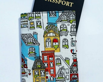 FREE SHIPPING UPGRADE with minimum -  Passport case / passport holder / passport cover : Colorful Paris