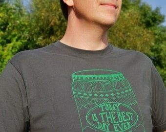 Today is the Best Day Ever Pickle Jar Tee Shirt Men's