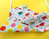 Kids Apron, Apron for Girls, Children's Apron, Toddler Girl's Apron, Craft Aprons, Kids Art and Craft, Colorful Birds