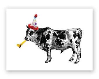 Have a Cow Birthday Card - Humor - Funny