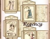 Jane Austen Regency Coin Envelopes Set Vintage Embellishment INSTANT DOWNLOAD Digital Printable