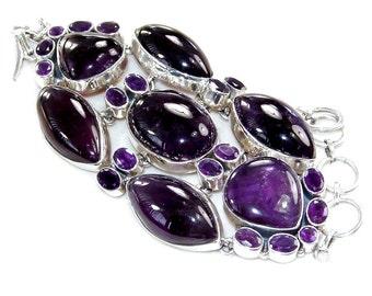 Sale: Deep-Purple Amethyst Sterling Silver Bracelet