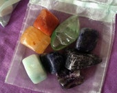 Purse or Pocket Offering Stone Sets of 8            Gemstone Sets, Healing Crystals, Healing Stones, Kits, Offering stones, Gift to Earth,