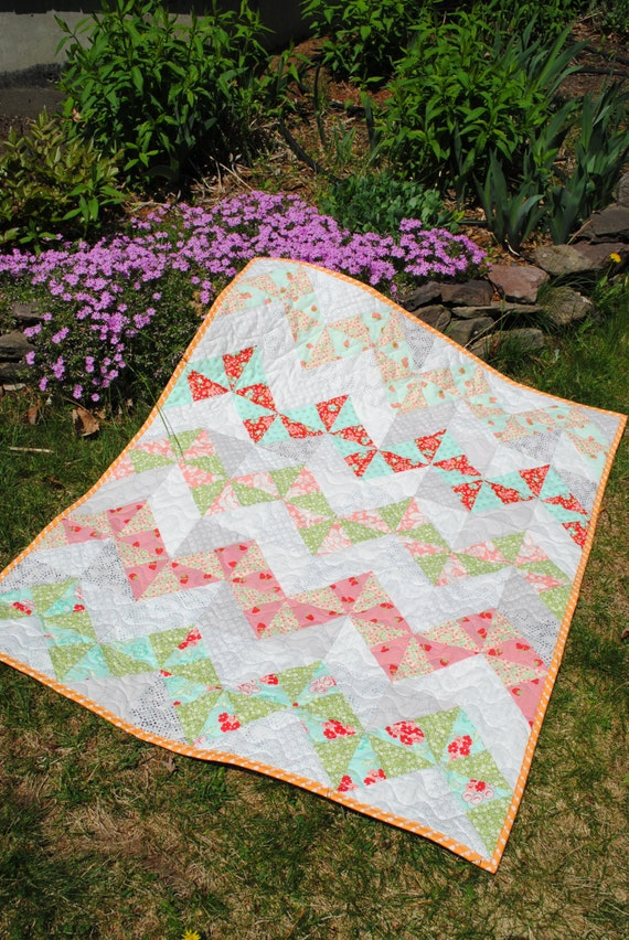 PDF Baby to King Size Patchwork Quilt Pattern 5 sizes Fat