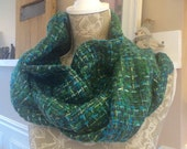 Green Wool Infinity Wrap