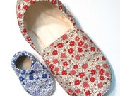 Vintage Coral Adult Slippers (with matching baby if you'd like!)