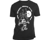Spooky Mouse Club T Shirt in Black