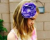 Light Lavender Satin Hair Flower, Photo Prop, Baby, Burnt Flower, Little Girl, Bridesmaids, Wedding, School Photo, Dance, Hair Facinator