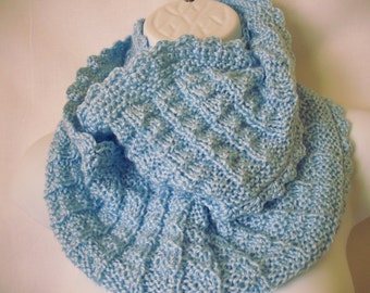 knit cowl/scarf in powder blue --4071501