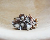 Pearl and Limpet Shell Ring - Sea Treasure Collection