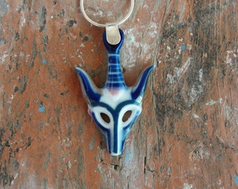 Talisman Necklace Deer Gazelle Necklace Sterling Silver Wiccan Necklace Protection Necklace