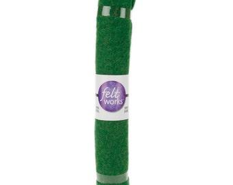Wool FELT Fabric - 12x12 - Spruce Green