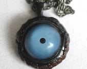 Large Scaly blue eye pendant LG-BLU-2