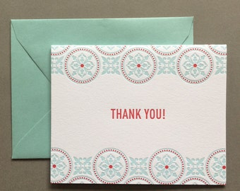 Tea Party Thank You letterpress card