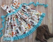 Ruffle Neck Dress Pattern - Sewing Tutorial and Printable Pattern