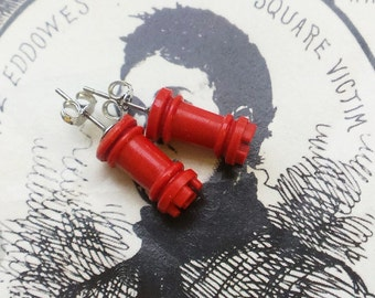 The King's Castle- Vintage Castle Chess Piece Post Earrings
