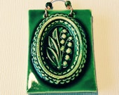 Lily of the Valley Mini Tile in Green