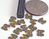 TINY Monarch butterfly, fimo nail art cane, 2-inch (5cm) long polymer clay cane, DIY, Miniatures, Scrapbooking, Made in USA