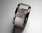 You & Me Diamond Titanium Rose Gold Ring