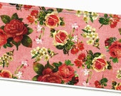 Checkbook Cover Fun Times Floral check book cover checkbook holder 4a