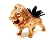 Gold Lion Planter for Succulents and Airplants Desk Decor