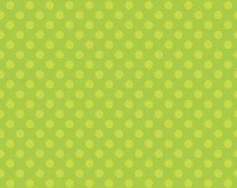Simply Sweet Green Dot by Riley Blake - 1 yard