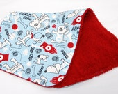 Baby Boy Burp Cloth, Baby Shower Gift, Welcome Baby Gift: Puppies and Fire Hydrants