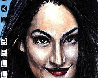 Nikki Bella Copic Marker Drawing Art Print WWE Wrestling 11.7 x 16.5 inches