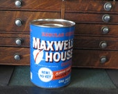 Vintage Maxwell House coffee can FULL NOS 1 pound 1960