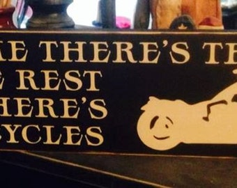 Some People Theres Therapy Us Motorcycles Handpainted Wood Sign Plaque Motorcycle Harley decor