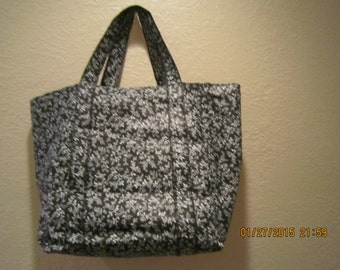 """Extra Large Durable 14"""" Grocery Shopper Reversible Tote Bag Vine Print - Black  CLEARANCE  39% off Was 16.50*"""