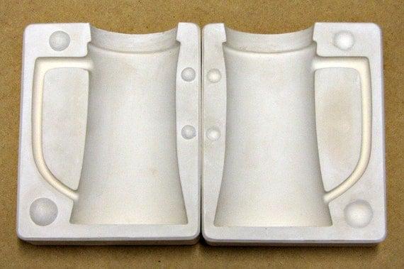 Vintage Ceramic Slip Casting Mold Tall And Large Plain Mug Cup