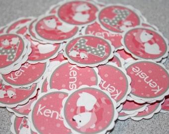 POLAR BEAR Table Confetti / polar bear Confetti / polar bear Table Minis / polar bear pink Confetti / polar bear party circles
