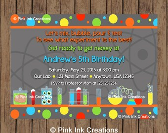items similar to science or chemistry party invitation on etsy, Party invitations