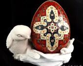 Reserved for Ben Kashan Bazaar Persian Turkey Egg Pysanky Ukrainian Style Easter Egg
