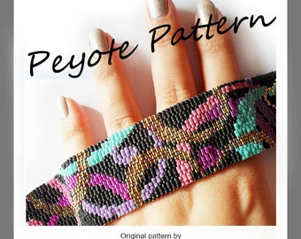 Party Waves Bracelet - Waves Peyote Pattern Bracelet - For Personal Use Only PDF Tutorial