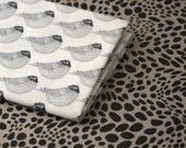 Woodgrain Sparrows Fabric - Half Yard