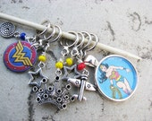 Wonder Woman Non-Snag Stitch Markers
