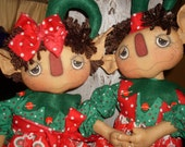 Primitive Cameron and Candi holiday christmas elves Hafair Faap