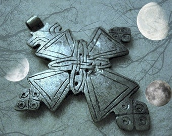 Large Ethiopian Coptic Silver Cross Aftrican STUNNING