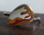 RESERVED  Desert Sky, An Owyhee Jasper and silver cuff bracelet