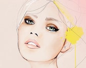 Meanwhile - Fashion Illustration Portrait Art Print by Leigh Viner