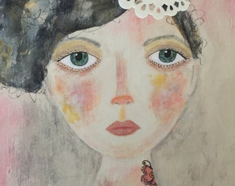 Lisette. Original Mixed Media Art