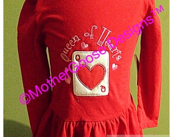 Queen of hearts valentines tee or dress